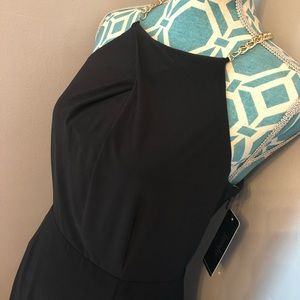 Laundry, Black midi dress with gold toned chain